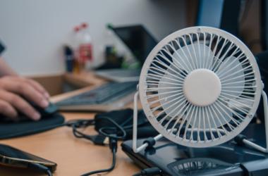 Small fan on computer desk - 12 volt fan for RVs