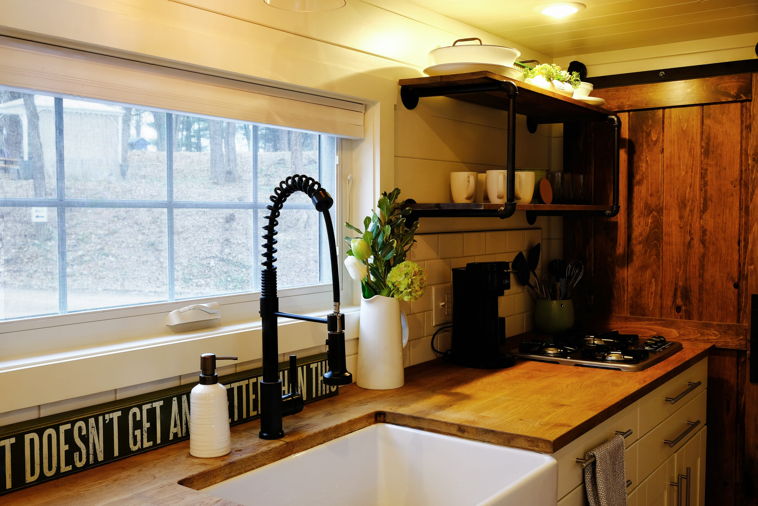 RV renovation of a small RV kitchen.