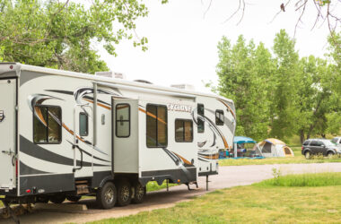 RV slide-outs at campsite