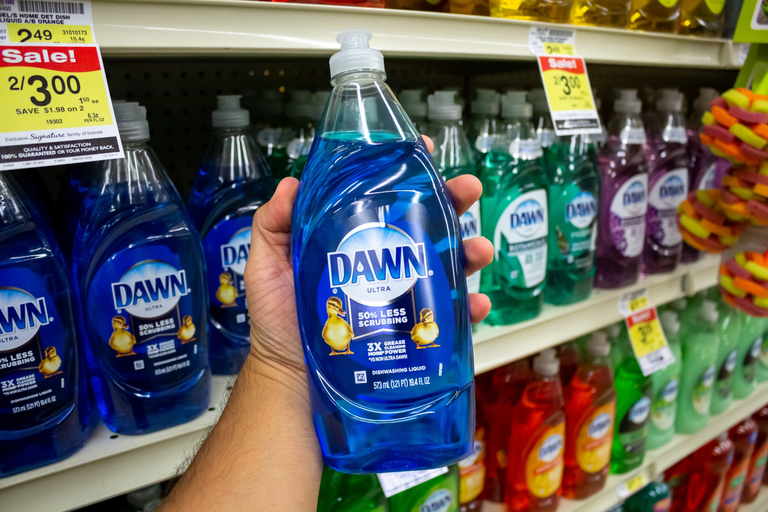 Dawn dish soap at the store - Can you use Dawn dish soap in RV black tanks?