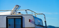RV roof in need of RV repair tape