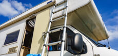 cleaning mildew off RV exterior surfaces