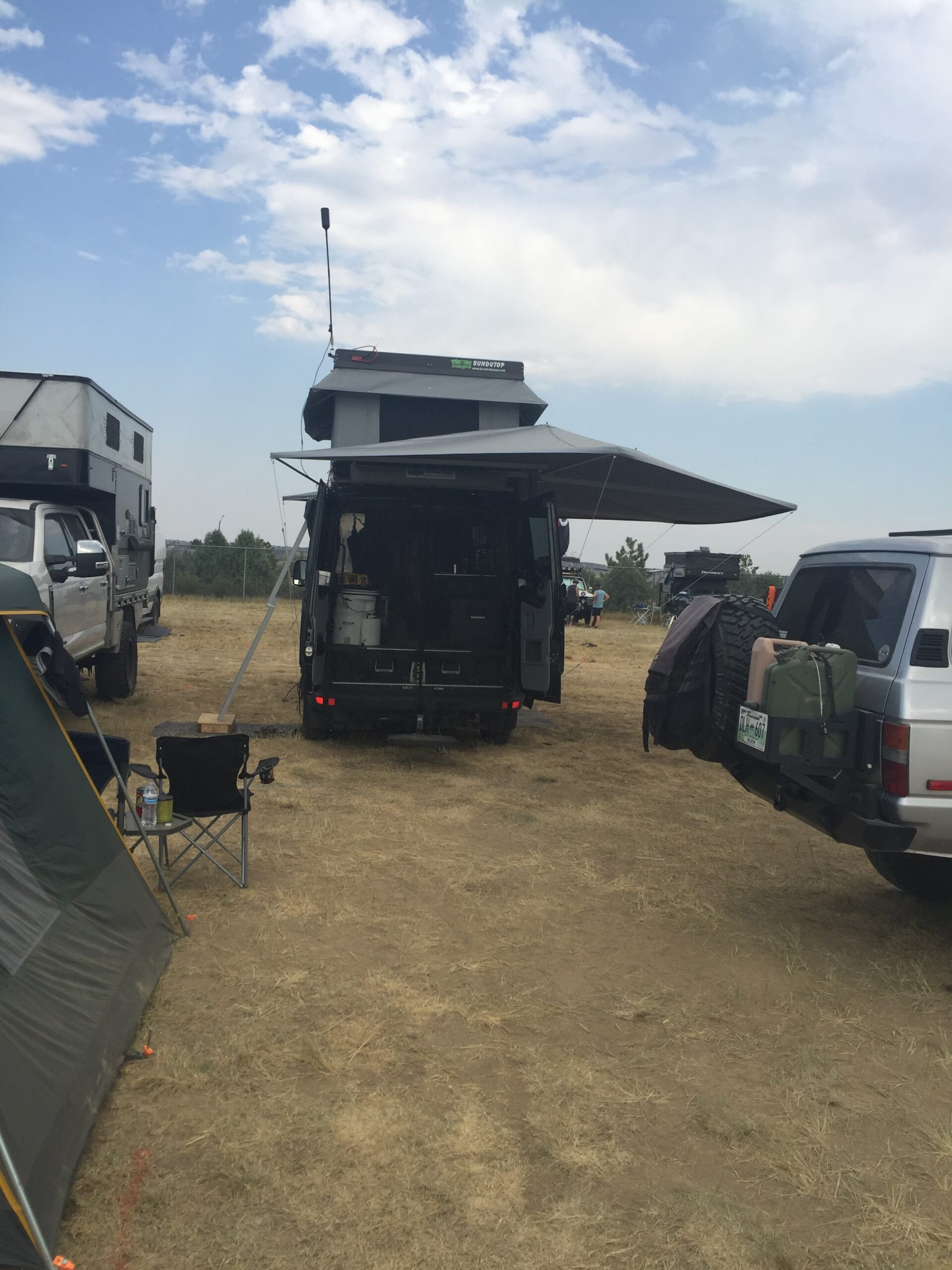 RV set up at Overland Expo