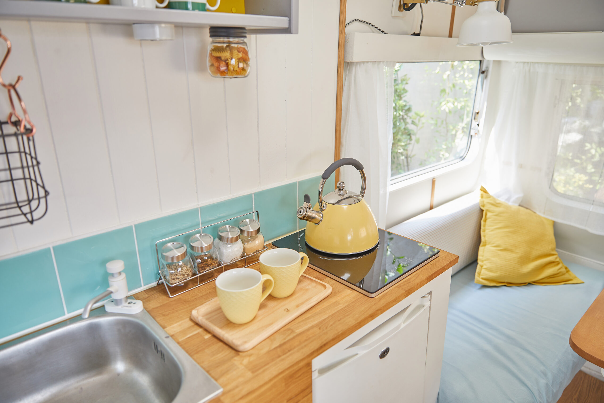 a wooden lightweight countertop material for RV interior