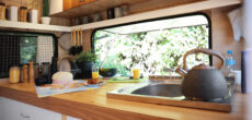 RV kitchen renovated with RV interior decorating tips