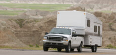 truck pulling RV - best vehicles for towing a travel trailer